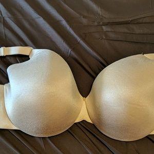 Beige back smoother bra